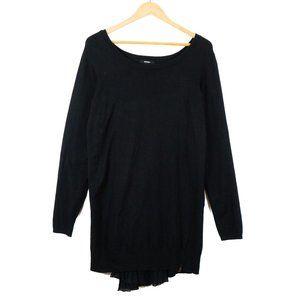 ✨3/$25✨RUDSAK Black Waterfall Chiffon Sweater